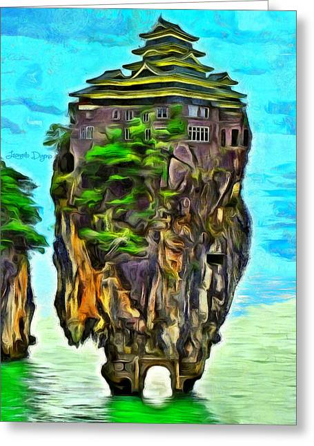 Rockhouse Island - Da Greeting Card by Leonardo Digenio