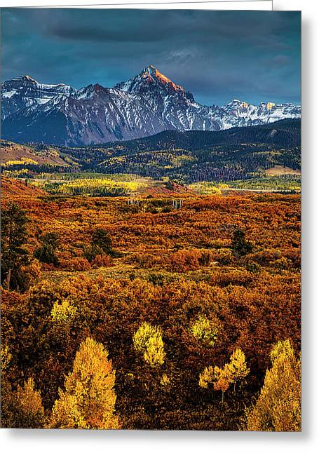 Rockies At Autumn Greeting Card by Andrew Soundarajan