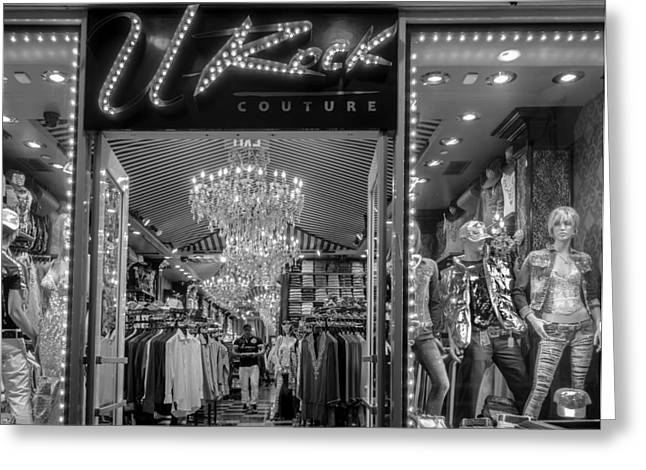Greeting Card featuring the photograph Rockin' Couture by Melinda Ledsome