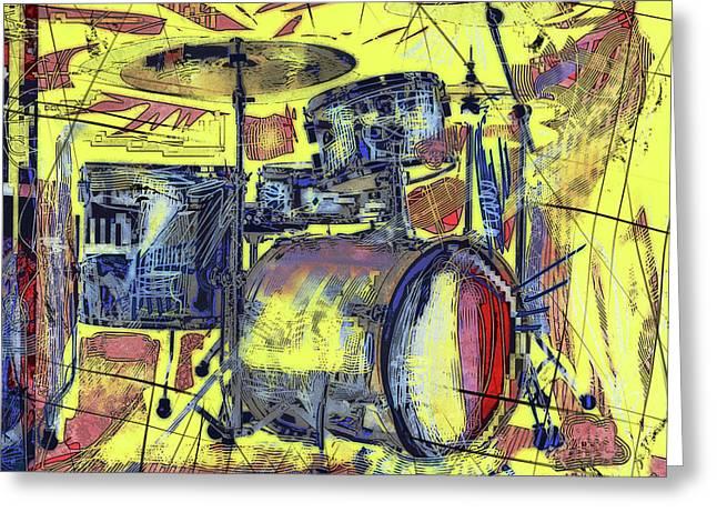 Rockin Drums Greeting Card