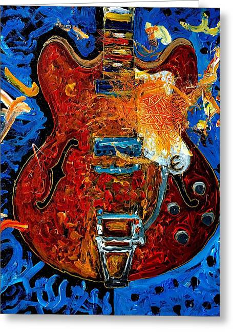 Rockin Epiphone Greeting Card