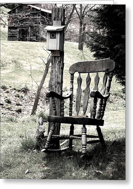 Rocking Chair Greeting Card by Gray  Artus