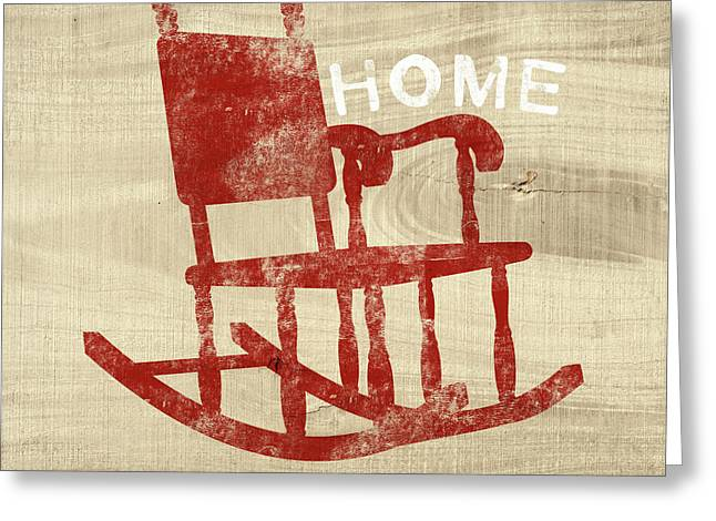 Rocking Chair Home- Art By Linda Woods Greeting Card