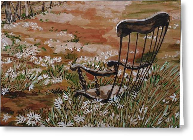 Rocking Chair No.2 Greeting Card by Christine Marek-Matejka