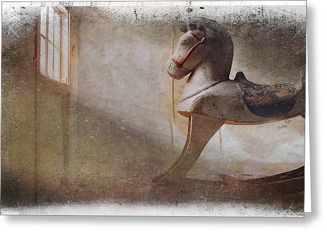 Rocking Horse Greeting Card by Movie Poster Prints