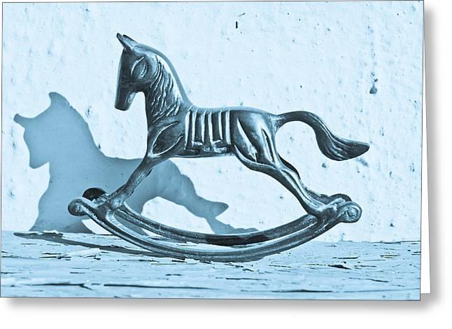 Rocking Horse Greeting Card by Tom Gowanlock