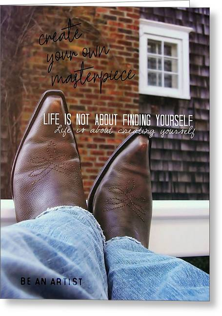 Rocking Kicks Quote Greeting Card by JAMART Photography