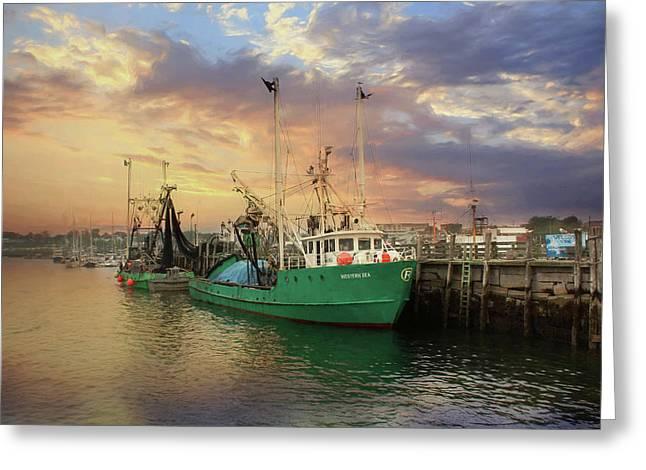 Rockland Fishing Pier Greeting Card