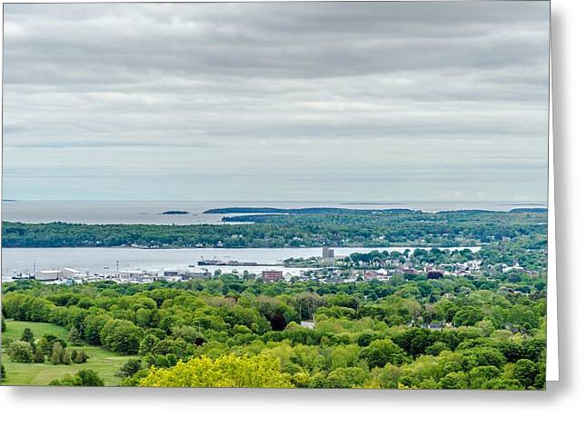 Rockland From Dodge's Mountain Greeting Card