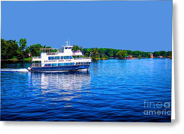 Rockport Boat Line Saint Lawrence Seaway Greeting Card