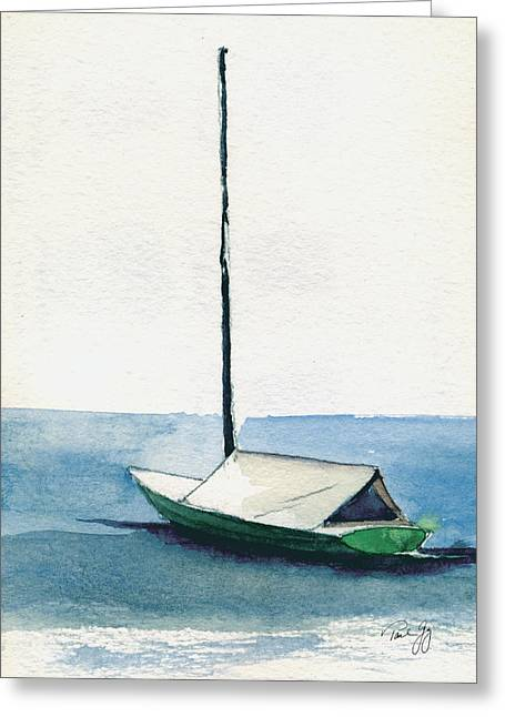 Rockport Boat Study Greeting Card