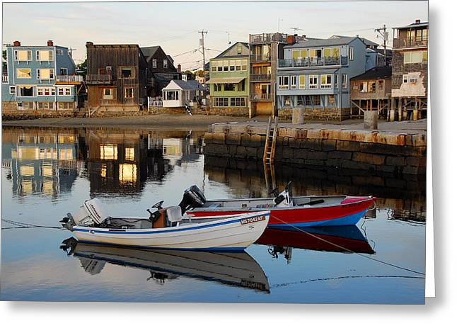 Rockport Boats Greeting Card