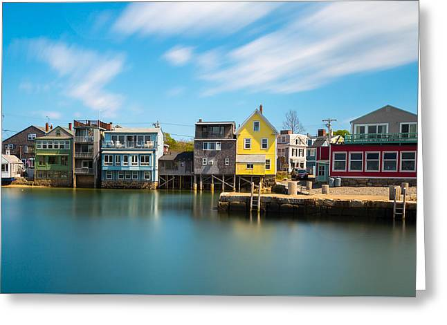 Rockport Dock Greeting Card