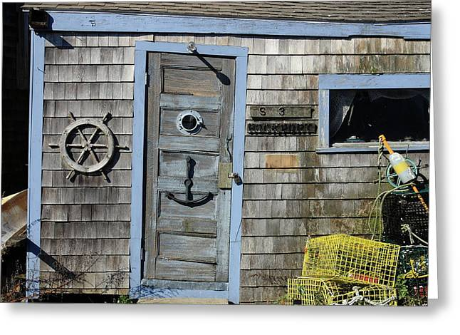 Rockport Fishing Shack Greeting Card by Lou Ford