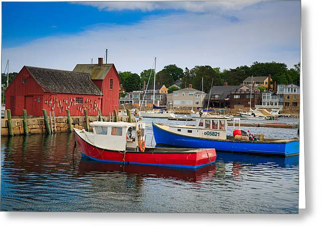 Rockport Harbor 2 Greeting Card by Emmanuel Panagiotakis