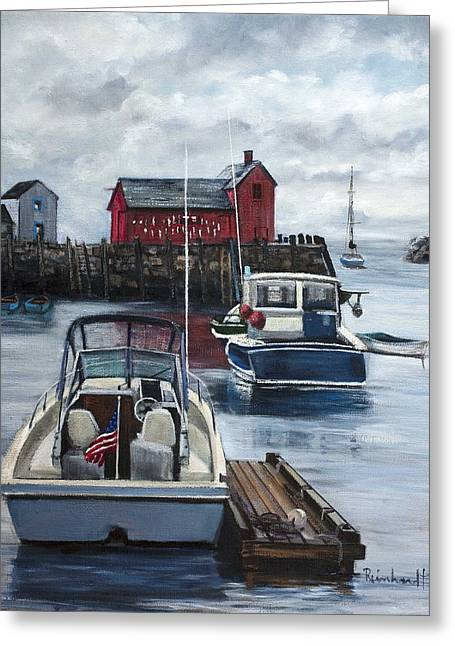 Rockport Greeting Card by Lisa Reinhardt