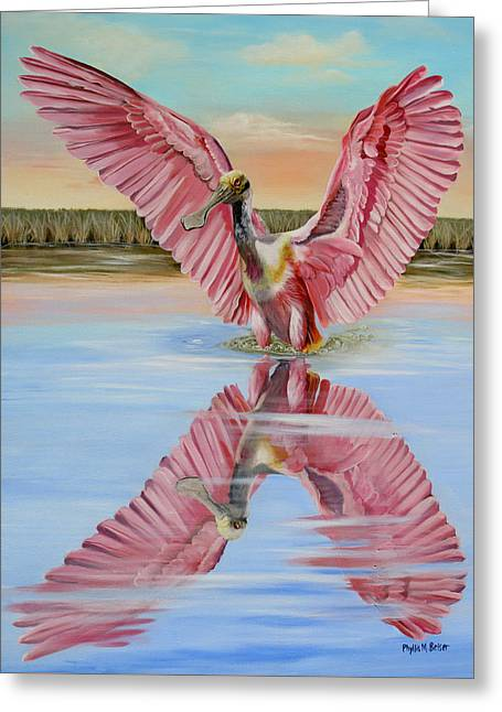 Rockport Roseate Spoonbill Greeting Card