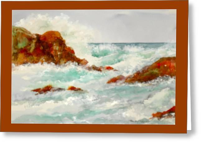 Rocks And Ocean Greeting Card