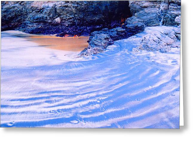 Greeting Card featuring the photograph Rocks And Sand 2 by Lyle Crump