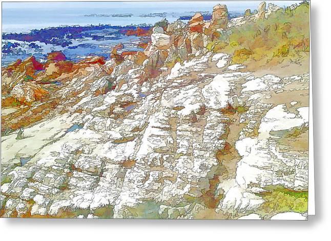 Rocks And Sea Greeting Card by Jan Hattingh