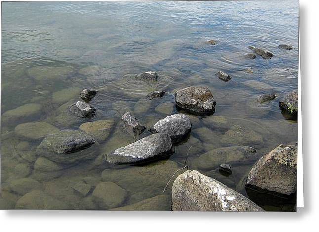Rocks And Water Too Greeting Card