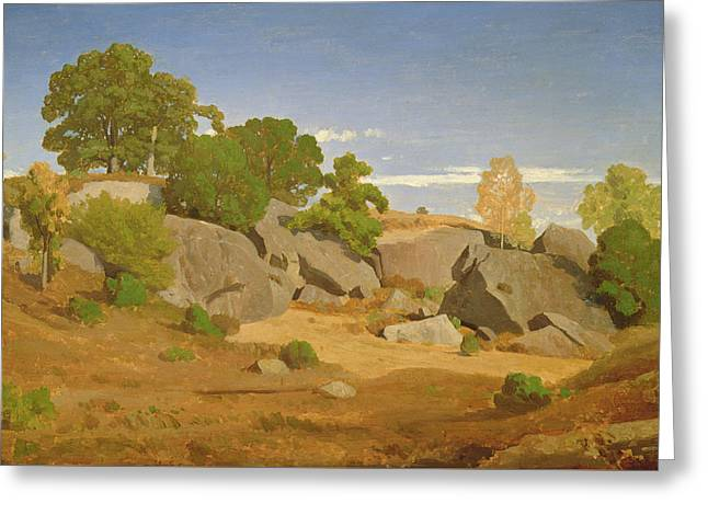 Rocks At Fontainebleau Greeting Card