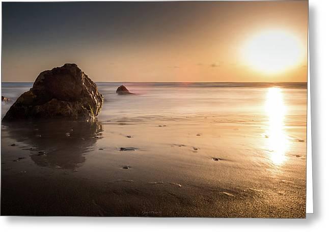 Rocks At Sunset 3 Greeting Card