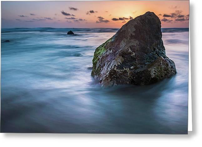 Rocks At Sunset 4 Greeting Card