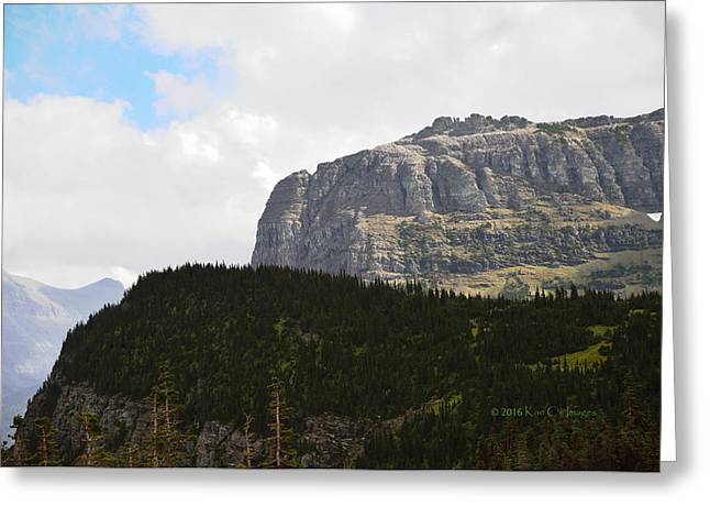 Greeting Card featuring the photograph Rocks Clouds And Trees by Kae Cheatham