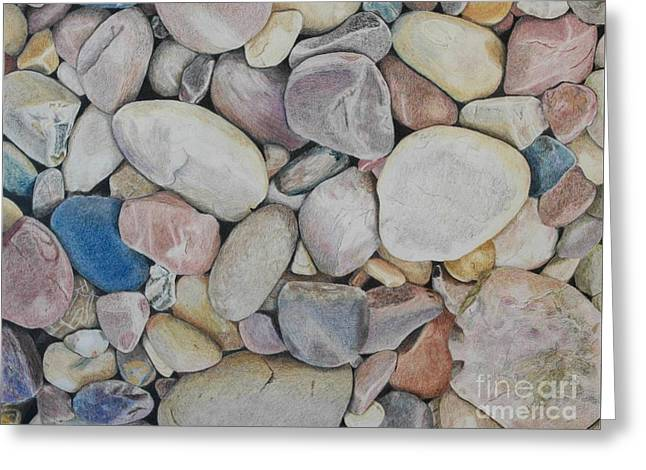 Beach Rocks, Mexico Greeting Card