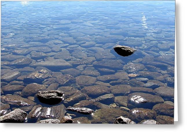 Rocks In Calm Waters Greeting Card