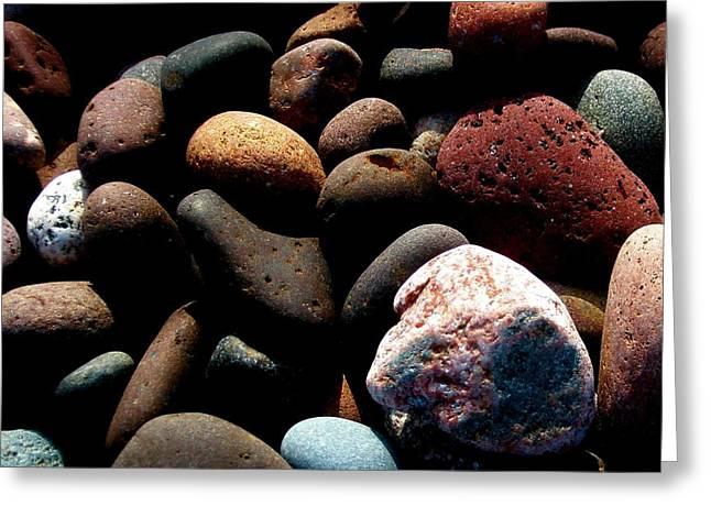Rocks Of Lake Superior Greeting Card