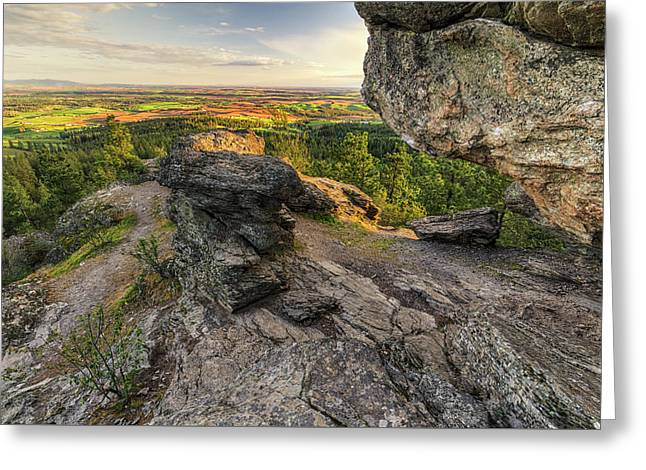 Rocks Of Sharon Overlook Greeting Card by Mark Kiver