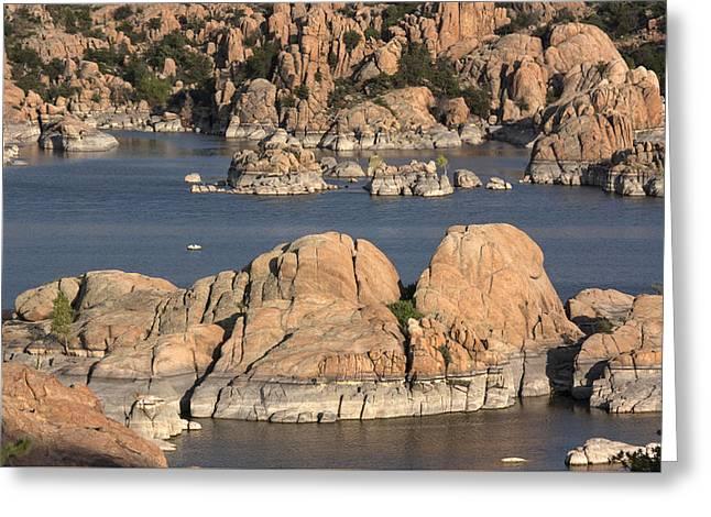 Rocks Of Watson Lake  Greeting Card by Jacki Smoldon