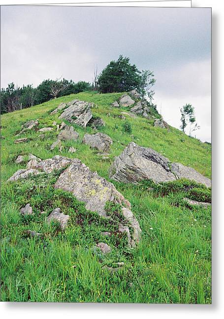 Rocks On The Mountain Greeting Card