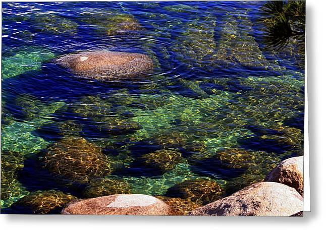 Rocks Ripples And Reflections Greeting Card by Lynn Bawden