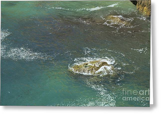 Rocks Touched By The Sea Greeting Card