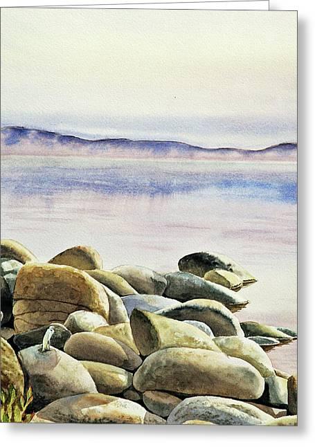 Rocks Water Reflections Greeting Card