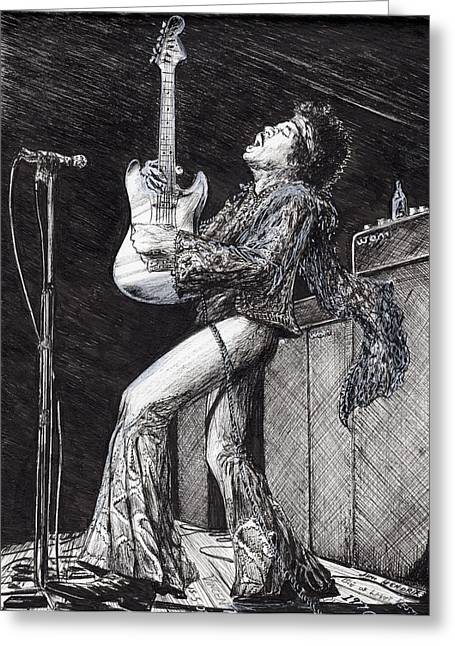 Rockstar Greeting Card by Vincent Alexander Booth