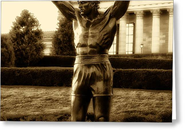 Rocky - Heart of a Champion  Greeting Card by Bill Cannon