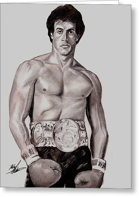 Rocky 3 Greeting Card by Michael Mestas
