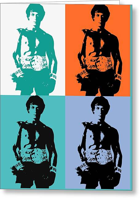 Rocky Balboa Pop Art Panels Greeting Card