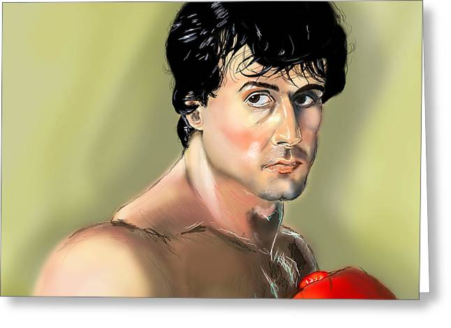 Rocky Balboa Greeting Card by Vinny John Usuriello