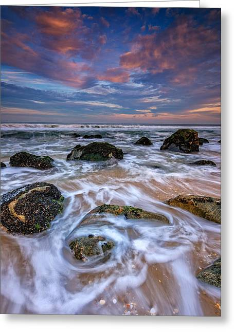Rocky Beach At Sandy Hook Greeting Card