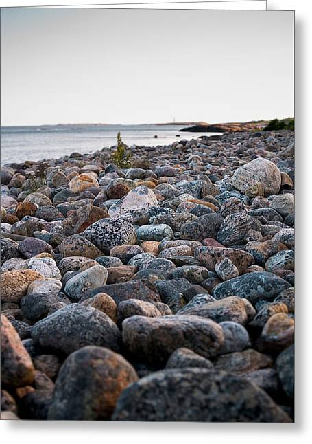 Rocky Beach Greeting Card by Mirra Photography