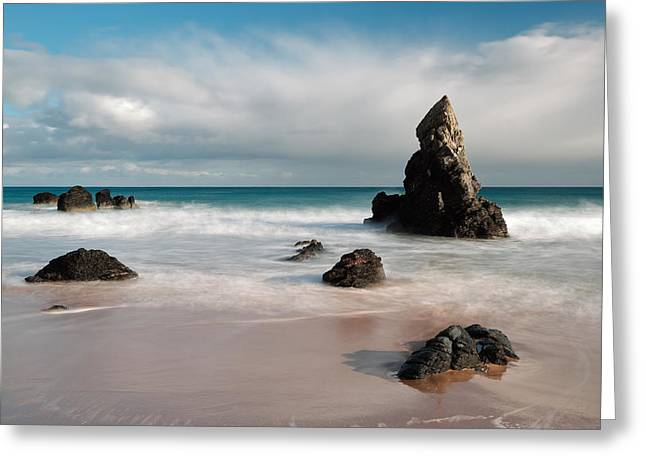 Rocky Beach On Sango Bay Greeting Card