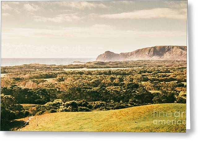 Rocky Capes And Rugged Coasts Greeting Card