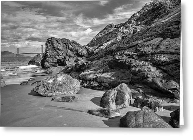 Rocky China Beach San Francisco Greeting Card by Judith Barath