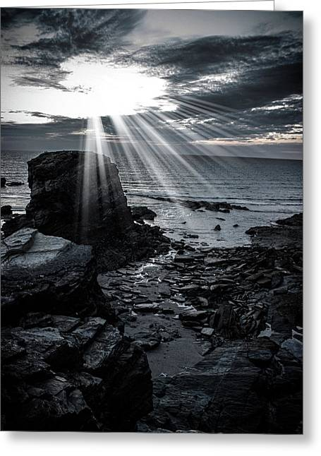 Rocky Coast Greeting Card by Martin Newman