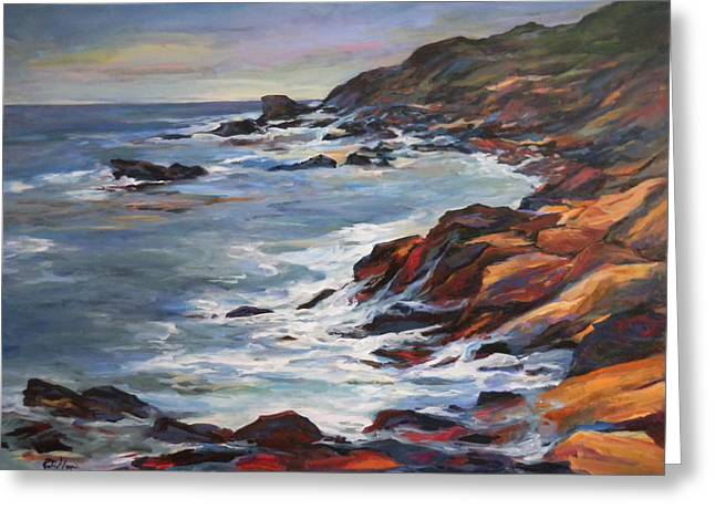 Rocky Coast Greeting Card by Pati Maguire